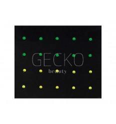 Adornos para uñas neon studs - yellow & green